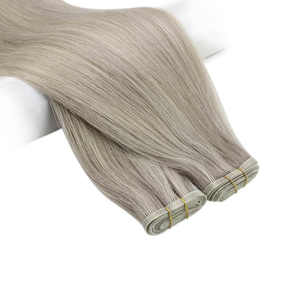 100% high quality human hair sew in weft hair extensions silky smooth hair hair extensions fantasy colors
