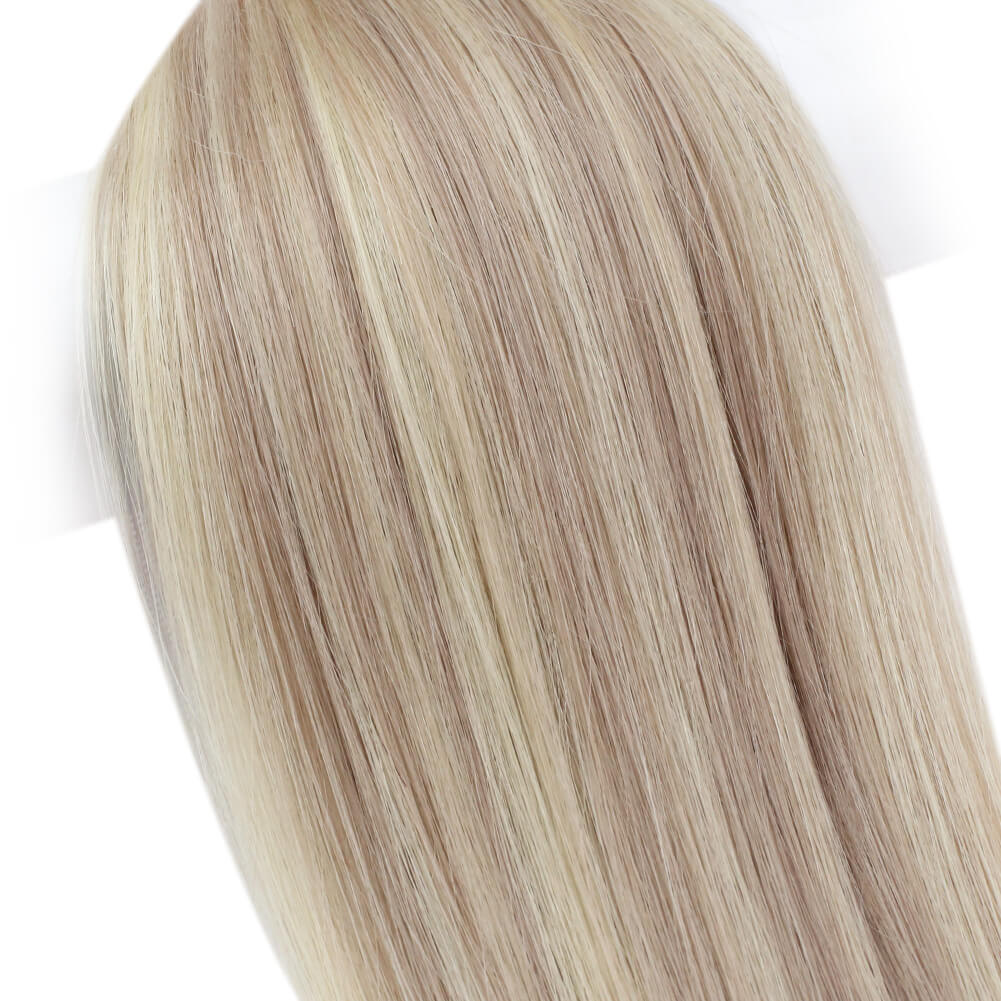 [ Virgin Human] I Tip Pre Bonded Keratin Remy Human Hair Extensions Straight Style Color #18/613 - LaaVoo