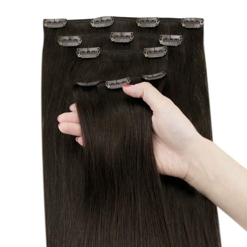 5 Pieces 70g Remy Clip in Hair Extensions Human Straight Hair Color