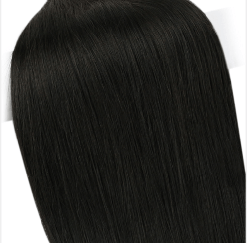[ Virgin Human] I Tip Pre Bonded Keratin Remy Human Hair Extensions Straight Style Color #1 Jet Black