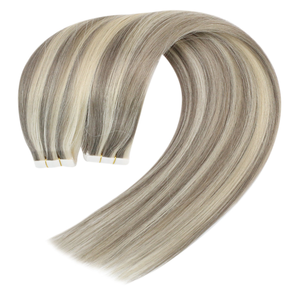 invisible tape in hair lasting long hair permanent human hair seamless tape in hair seemless hair silk smooth hair extensions