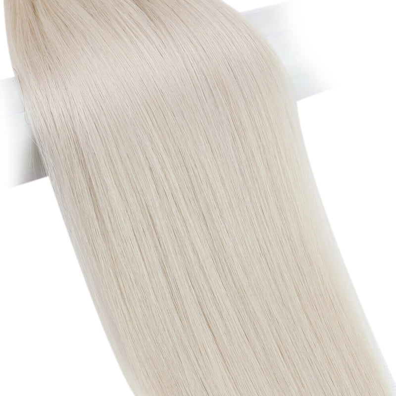 Virgin Hand Tied Bundle Straigt Weft 10g/Bundle Full Cuticle (#1000 White Blonde)