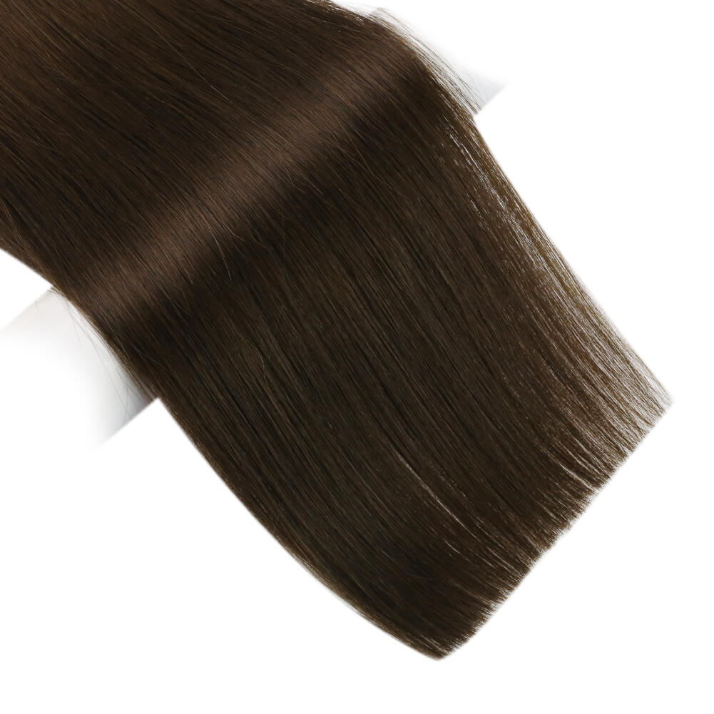 flat weft hair extensions free cut hair weft minimum shedding no tangling PU bundle PU weft silk flat top