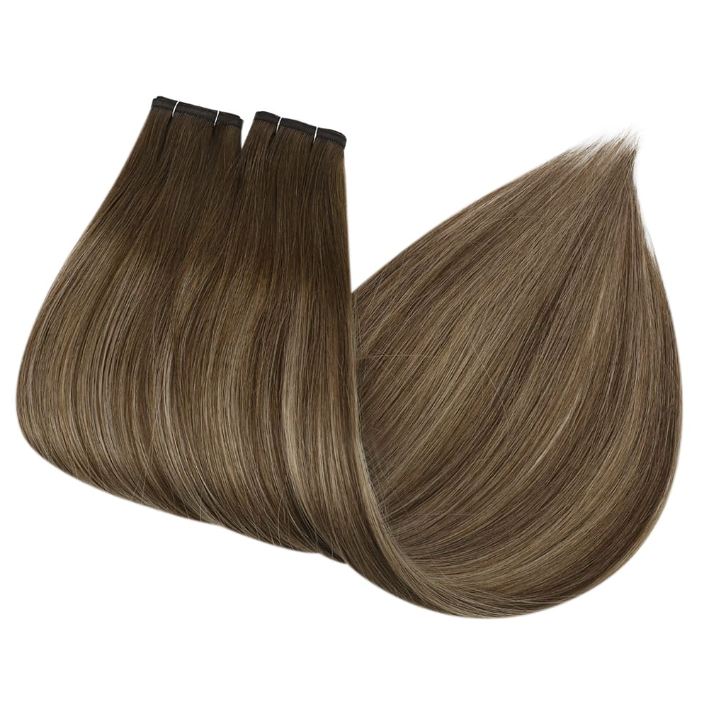 [Virgin Remy Human]Tape in Remy Human Hair Extensions  Darkest Brown Color #2 2.5g/piece - LaaVoo