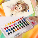 Watercolor Paint Set Palette 12/24/30/36/40/48 Colors - Rainbow Cabin