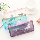 Unicorn Adorable Clear Pencil Case - Rainbow Cabin