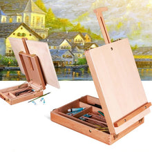 Load image into Gallery viewer, Desktop Wooden Box Easel - Rainbow Cabin