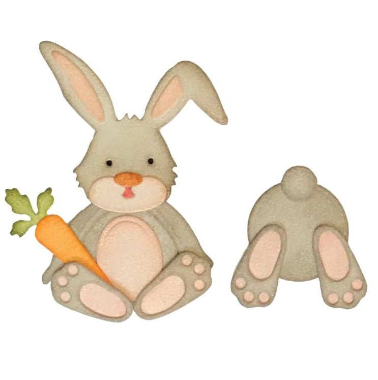 Metal Die Cut Stencil - Cute Bunny - Rainbow Cabin
