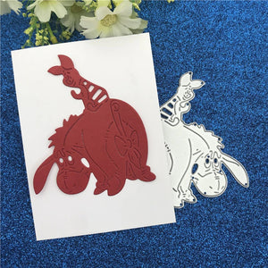 Metal Die Cut Stencil - Best Friends Piglet & Eeyore - Rainbow Cabin