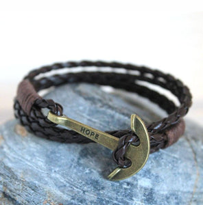 Hope Anchor Bracelet - Rainbow Cabin