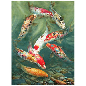 Diamond Painting Kit - Feng Shui Koi Fish - Rainbow Cabin