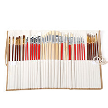 Load image into Gallery viewer, Set of 38 Paint Brushes in Canvas Case - Rainbow Cabin