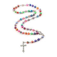 Load image into Gallery viewer, Holy Mary Rosary Necklace - Rainbow Cabin