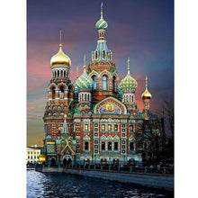 Load image into Gallery viewer, Assumption Cathedral Diamond Painting Kit - Rainbow Cabin