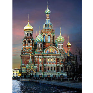 Assumption Cathedral Diamond Painting Kit - Rainbow Cabin