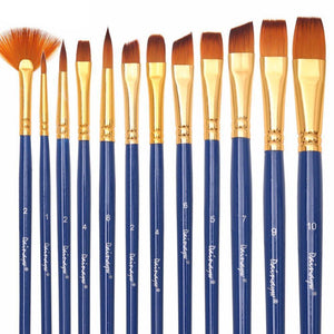 Art Paint Brushes Set of 12 - Rainbow Cabin
