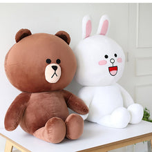 Load image into Gallery viewer, Cute Plush Toy Brown Bear Rilakkuma & Friend - Rainbow Cabin
