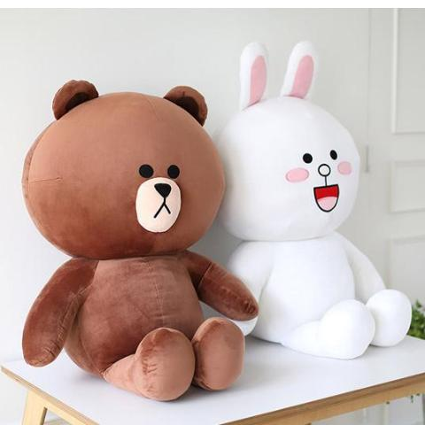 Cute Plush Toy Brown Bear Rilakkuma & Friend - Rainbow Cabin