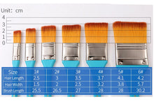 Load image into Gallery viewer, Scrubbing Paint Brushes Different Sizes - Rainbow Cabin