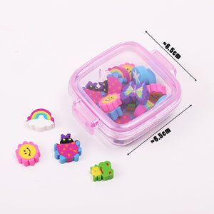 Box of 20 Colorful Erasers - Rainbow Cabin