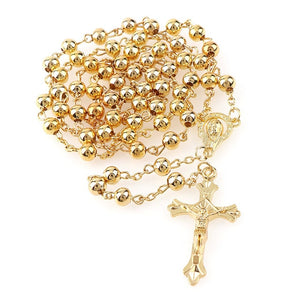 *FREE* Gold Metal Beads Rosary - Rainbow Cabin