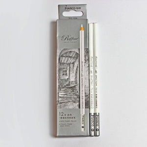 Marco White Pastel Artist Sketch 12 Pencils - Rainbow Cabin