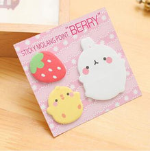 Load image into Gallery viewer, Chubby Molang Rabbit & Piu Piu Sticky Notes - Rainbow Cabin