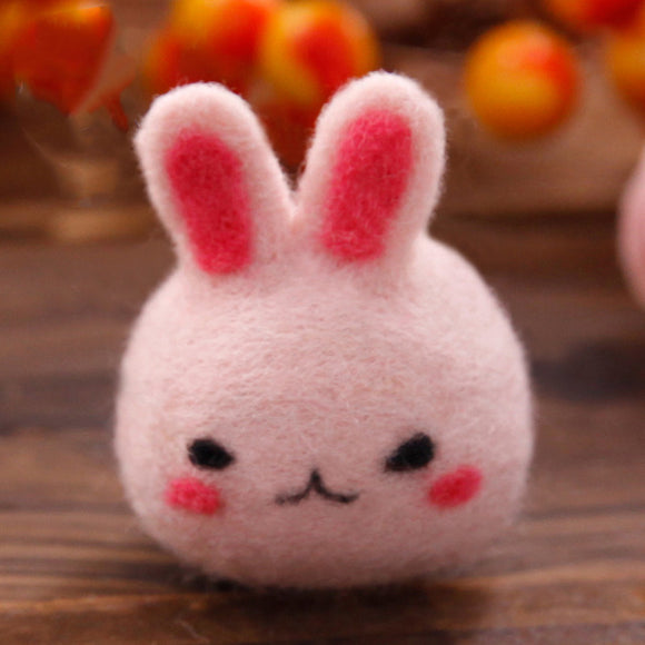 Pink Bunny Felt Craft Kit With Tools