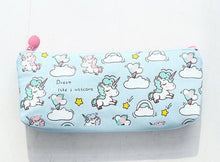 Load image into Gallery viewer, Fabric Unicorn Pencil Case - Rainbow Cabin