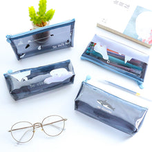 Load image into Gallery viewer, South Pole Adorable Clear Pencil Case - Rainbow Cabin