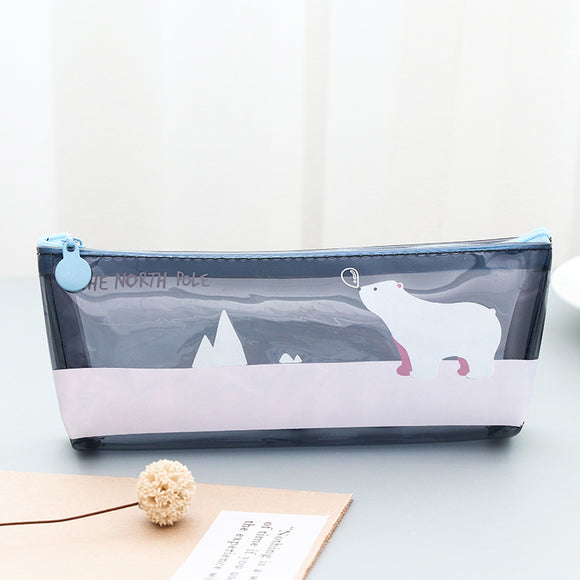 South Pole Adorable Clear Pencil Case - Rainbow Cabin