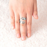 I Will Love You Forever Paw Footprints Ring - Rainbow Cabin