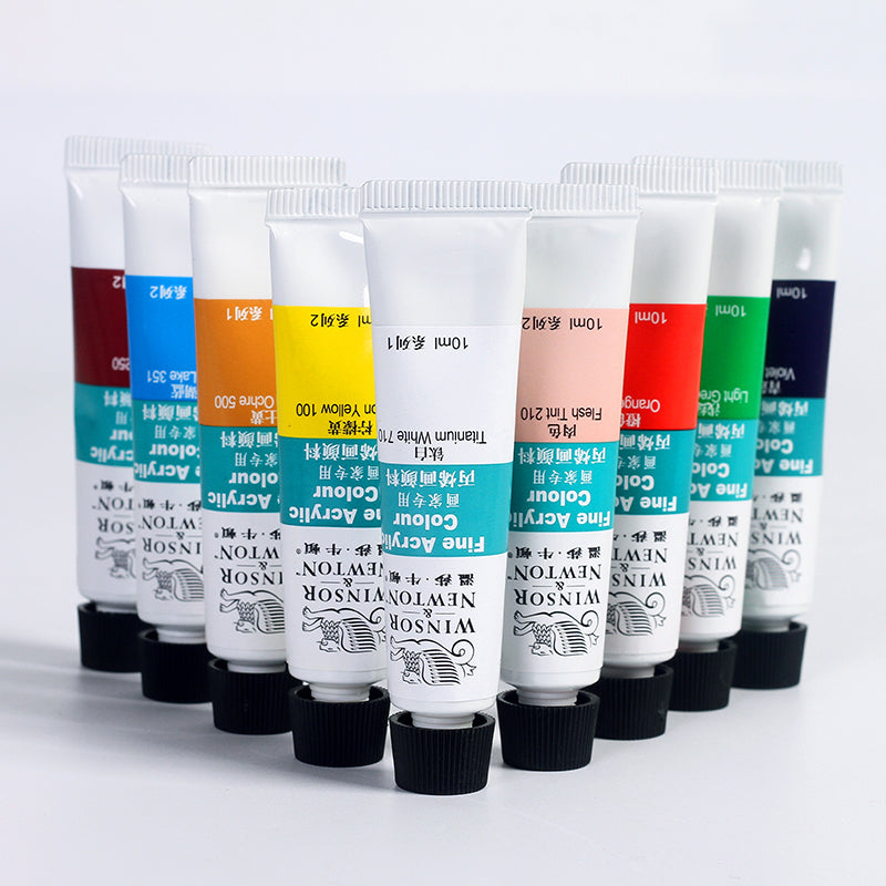 Winsor and Newton Acrylic Art Paint Set 12/18/24 Colors - Rainbow Cabin