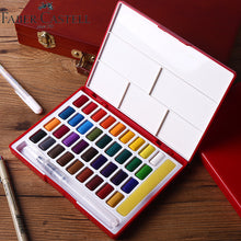 Load image into Gallery viewer, Faber-Castell Solid Blocks Watercolor Painting Box Set - Rainbow Cabin