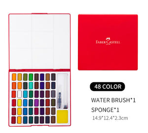 Faber-Castell Solid Blocks Watercolor Painting Box Set - Rainbow Cabin
