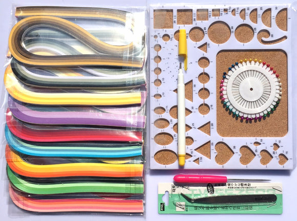 Paper Quilling Craft Kit - Rainbow Cabin