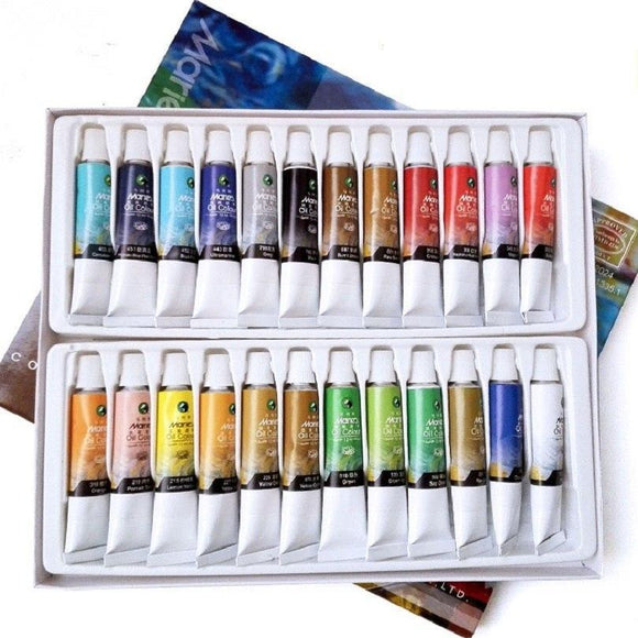 Art Oil Paint Tubes 12/18/24 Colors