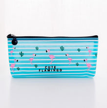 Load image into Gallery viewer, Flamingo Pencil Pouch Case - Rainbow Cabin