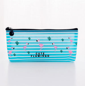 Flamingo Pencil Pouch Case - Rainbow Cabin