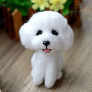 White Poodle Felt Craft Kit With Tools - Rainbow Cabin