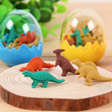 7 Dinosaurs Erasers in Container
