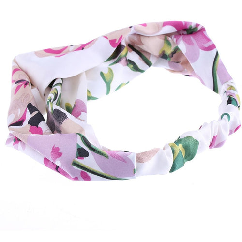 Pink Floral Twisted Headband - Rainbow Cabin