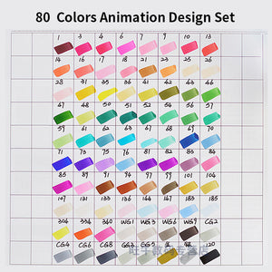 Superior Animator Sketch Marker Pens 40/60/80/96 Colors - Rainbow Cabin