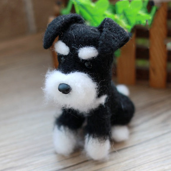Schnauzer Doggy Felt Craft Kit With Tools