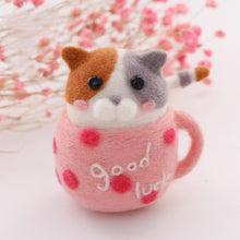 Load image into Gallery viewer, Pink Mug Good Luck Felt Craft Kit With Tools - Rainbow Cabin