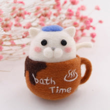 Load image into Gallery viewer, Brown Mug Bath Time Felt Craft Kit With Tools - Rainbow Cabin