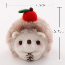 Load image into Gallery viewer, Cute Hedgehog Felt Craft Kit With Tools - Rainbow Cabin