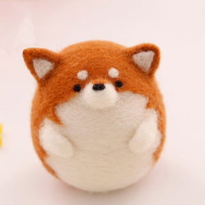 Shiba Inu Dog Felt Craft Kit With Tools