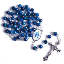 Load image into Gallery viewer, Virgin Mary Blue Rosary Beads - Rainbow Cabin