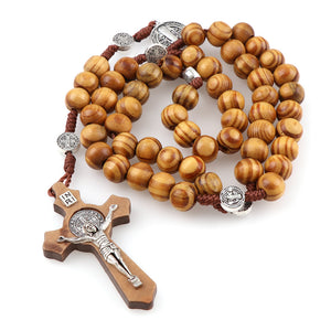 Wood Beads Rosary - Rainbow Cabin